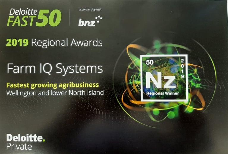 FarmIQ wins regional Deloitte Fast 50 award.