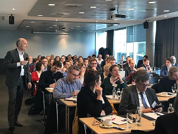 Reggy-Charles Degen as keynote speaker at Agoria Event