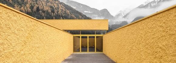 Monochromatic firestations by Pedevilla Architects