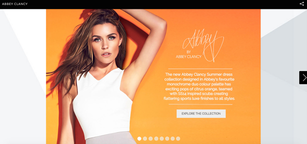abbey clancy interactive lookbook matalan