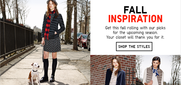 uniqlo fashion interactive content