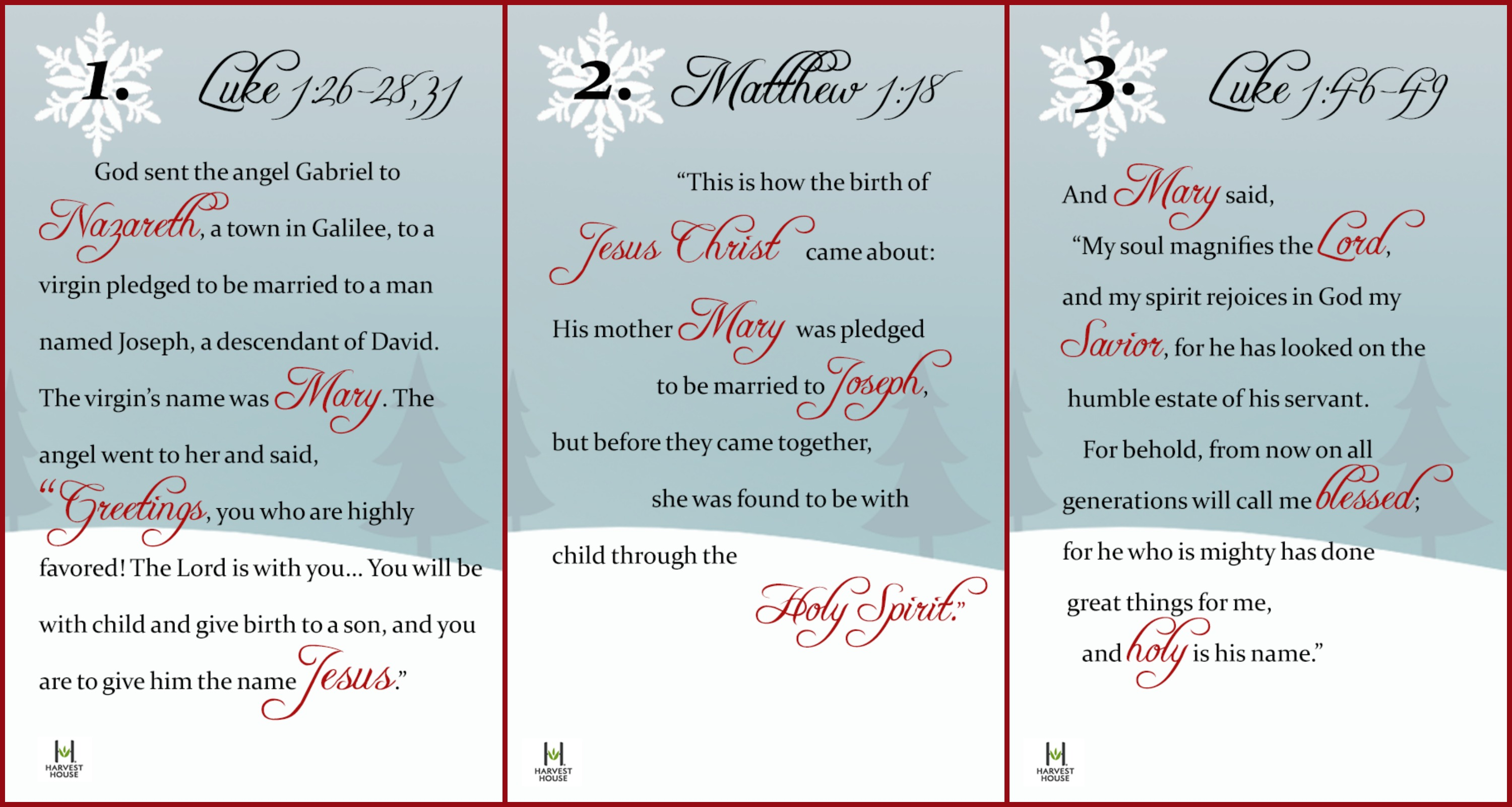 Advent Calendar Ideas Bible Verses : A christmas gift from harvest house to your advent