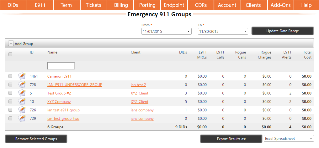 Assigning E911 DIDs to Groups