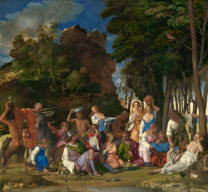 titian feast of gods