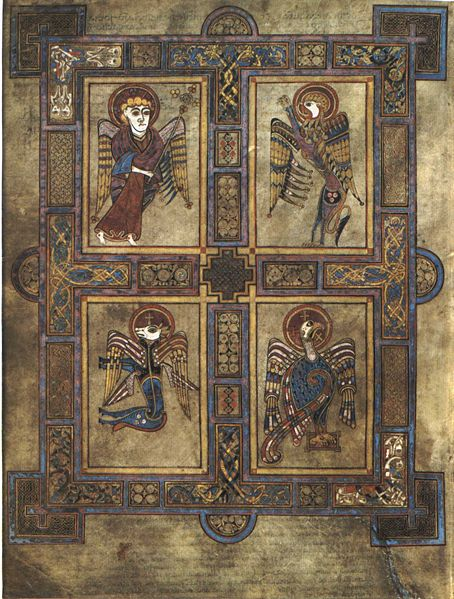book of kells four evangelists
