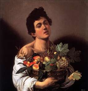 caravaggion boy with basket of fruit