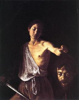 caravaggio david with head of goliath