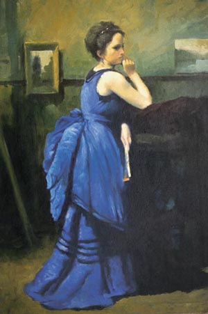 Corot Woman in Blue resized 600