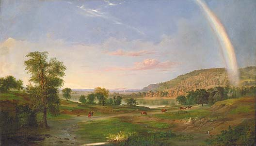 duncanson landscape with rainbow