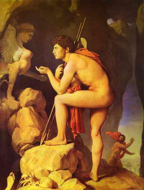 famous paintings oedipus and sphinx