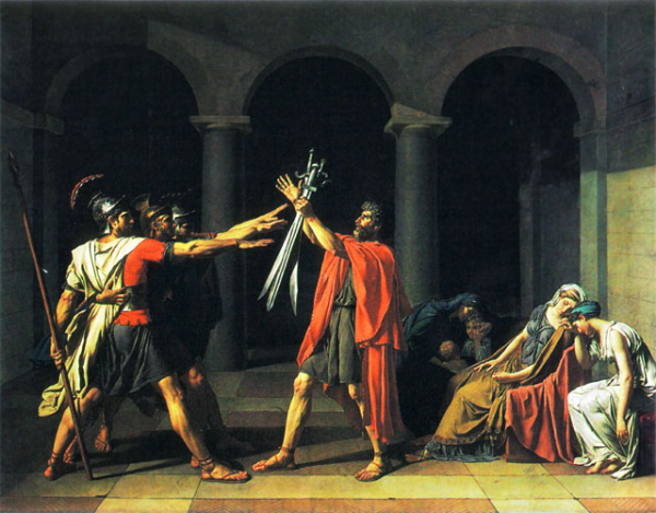 art paintings oath of the horatii