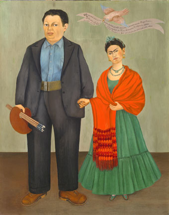 frida kahlo wedding portrait