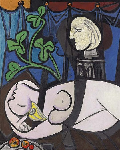 Picasso Nude, Green leaves bust