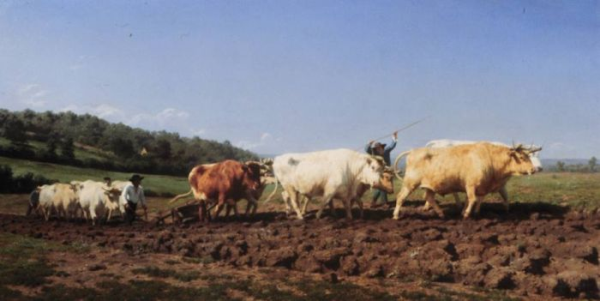 famous painting plowing in the nivernais