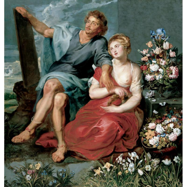 rubens pausias and glycera