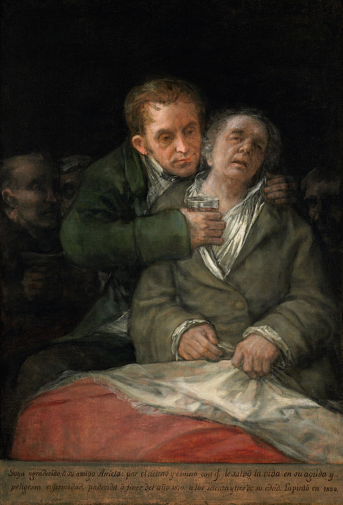 Goya-paintings-Self-Portrait-Doctor-Arrieta