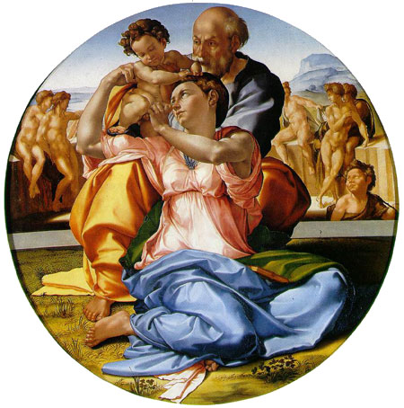 michelangelo paintings doni tondo