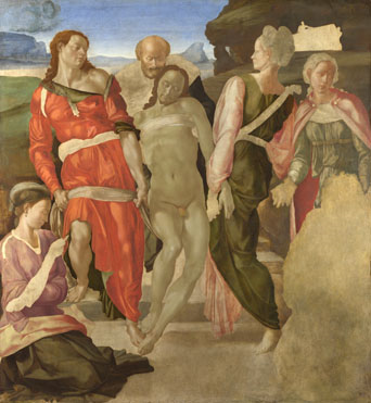 michelangelo paintings entombment