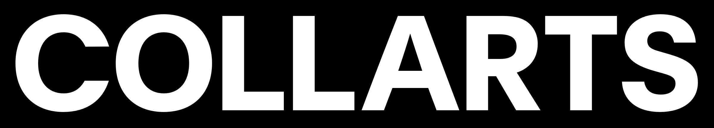 Collarts Logo - white on black