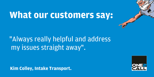 One2Call testimonial from Intake Transport