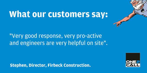 One2Call Testimonials Firbeck Construction