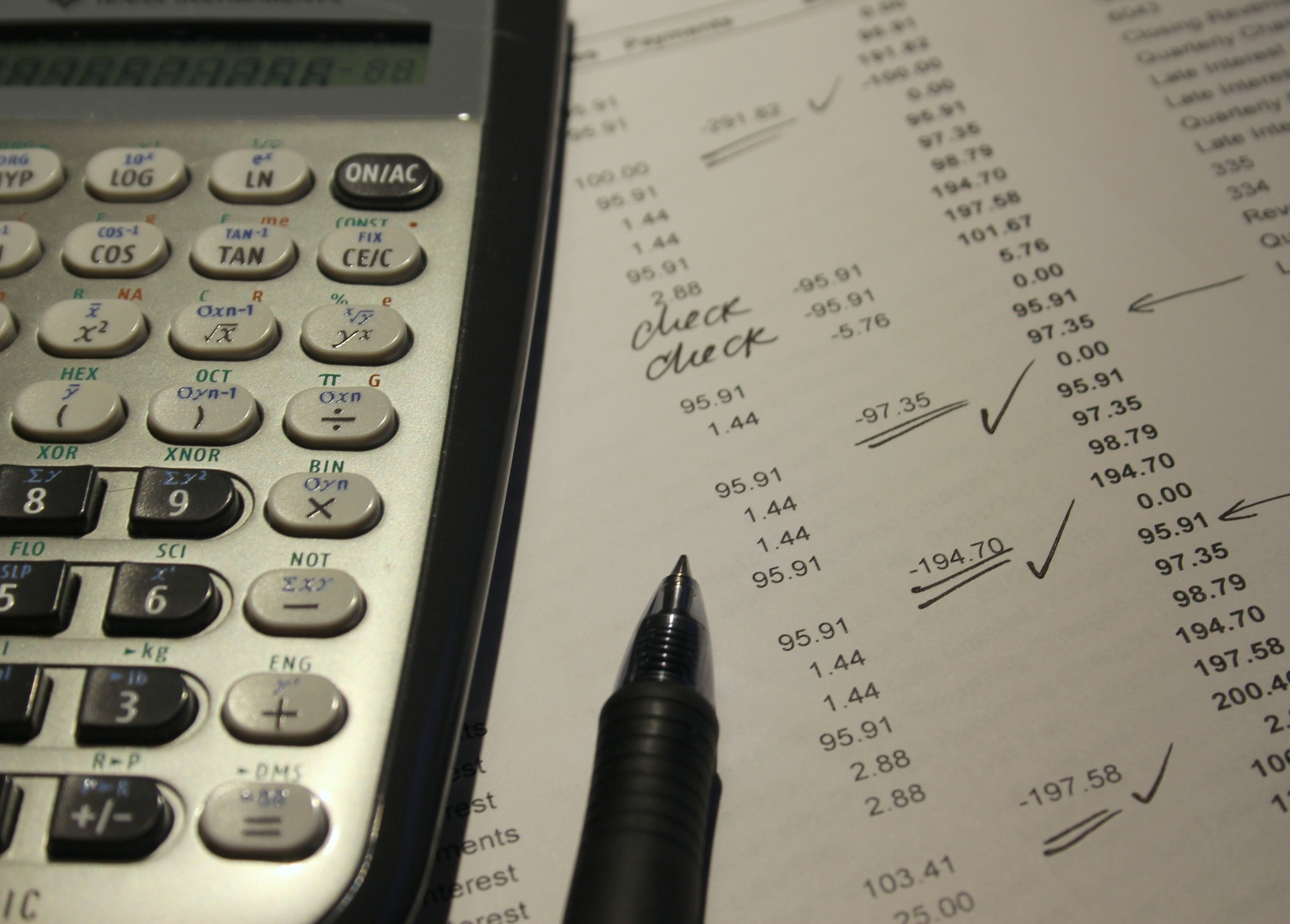 Accounting and carrying costs