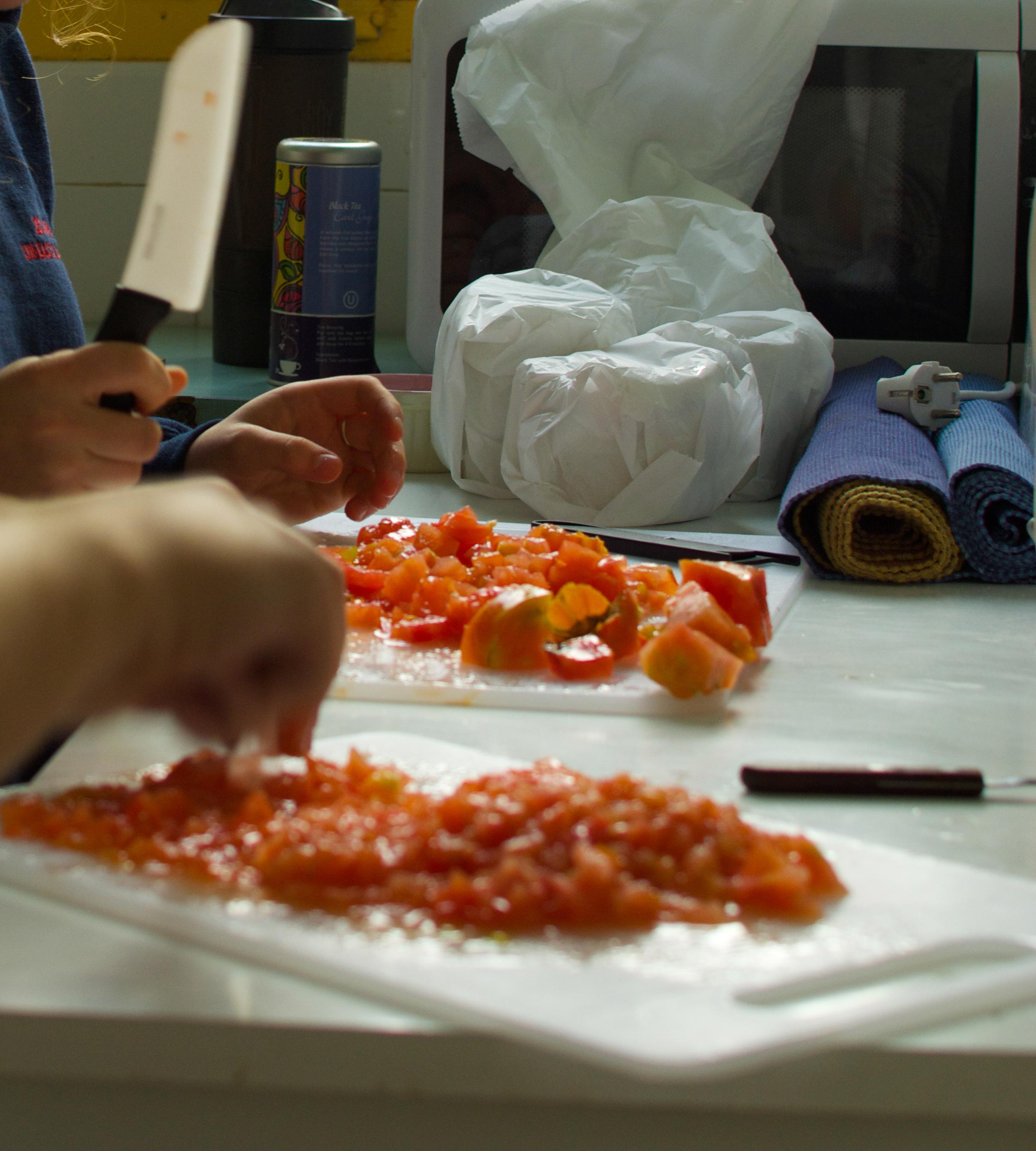 Proctor en Segovia experiential education cooking class