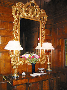 antique mirror entry