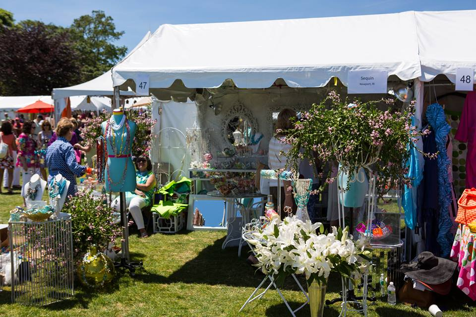 vendors at newport flower show
