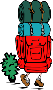Graphic of a back  pack