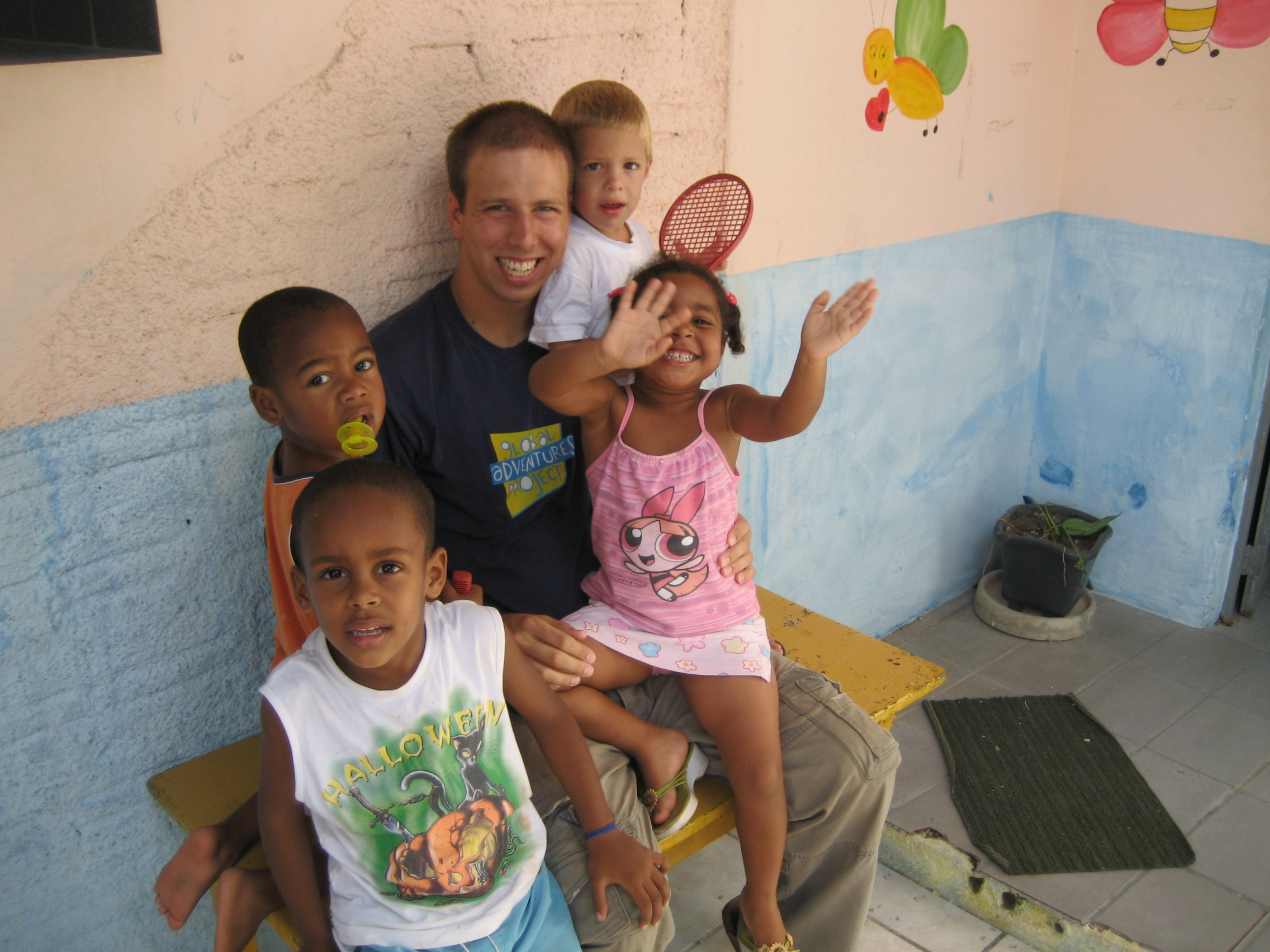 Volunteer and orphans.