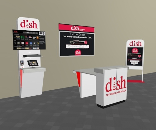 DISH Showroom Display Options