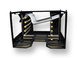 Material handling exhaust transportation rack.