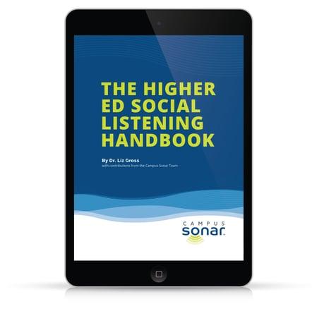 The Higher Ed Social Listening Handbook Tablet