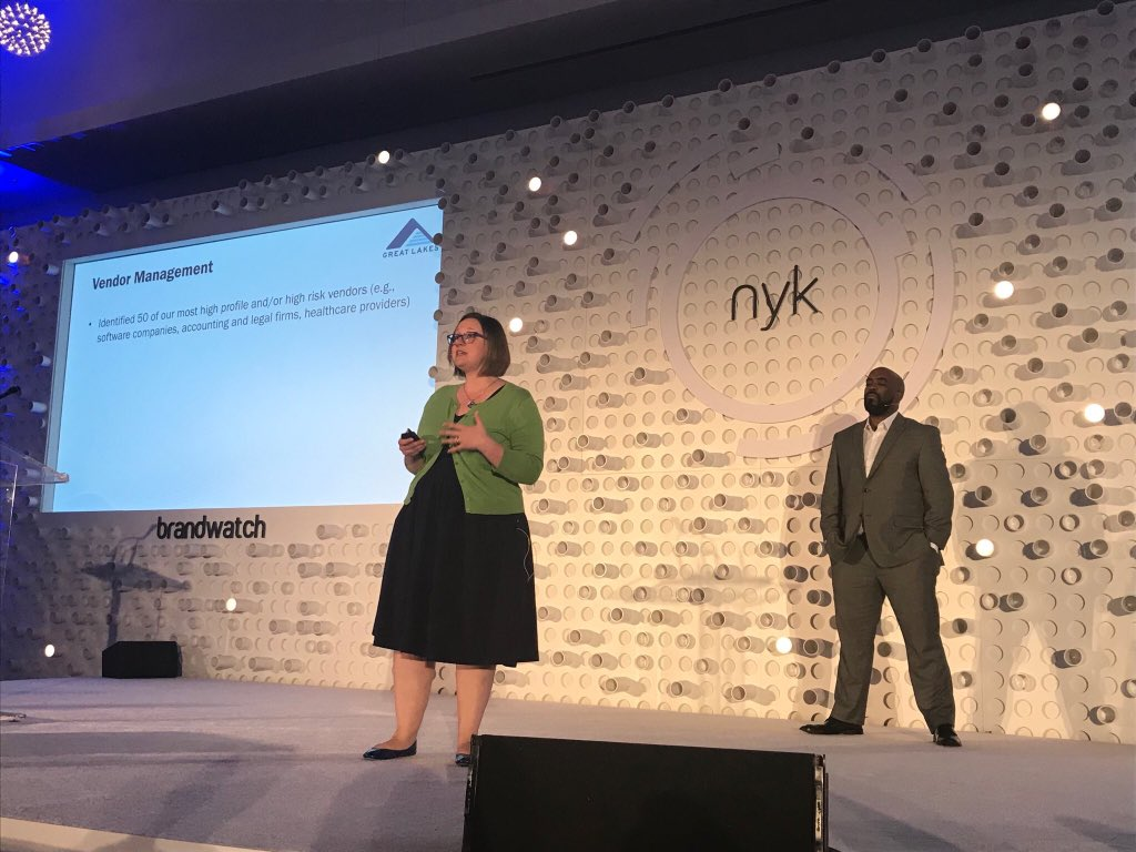 Liz and Nick presenting at NYK
