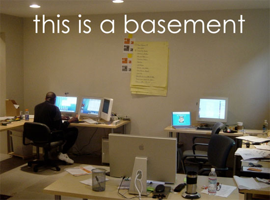 7 tips for starting an architecture firm tip 01 be cheap for Basement office
