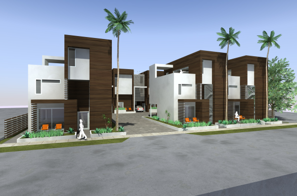 Fay ave art distict dwellings small lot subdivision for Small contemporary home designs