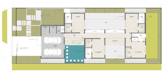 Roberts ave residence modern home culver city architects for Floor plans los angeles