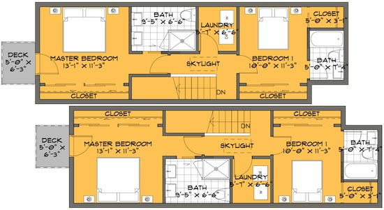 2 Bedroom Tiny House Floor Plans Further Long Skinny Besides Modern Home Narrow