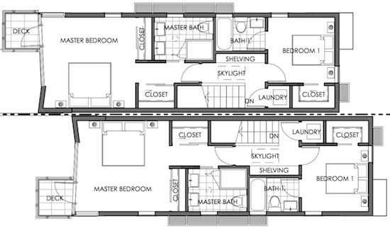 Skinny Solution For Small House Floor Plans On Skinny House Plans