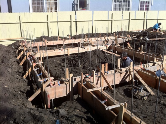 small lot foundation forms