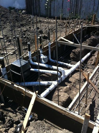 08 rough plumbing for New construction plumbing rough in
