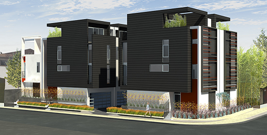 Los angeles modern homes for 3 storey commercial building design