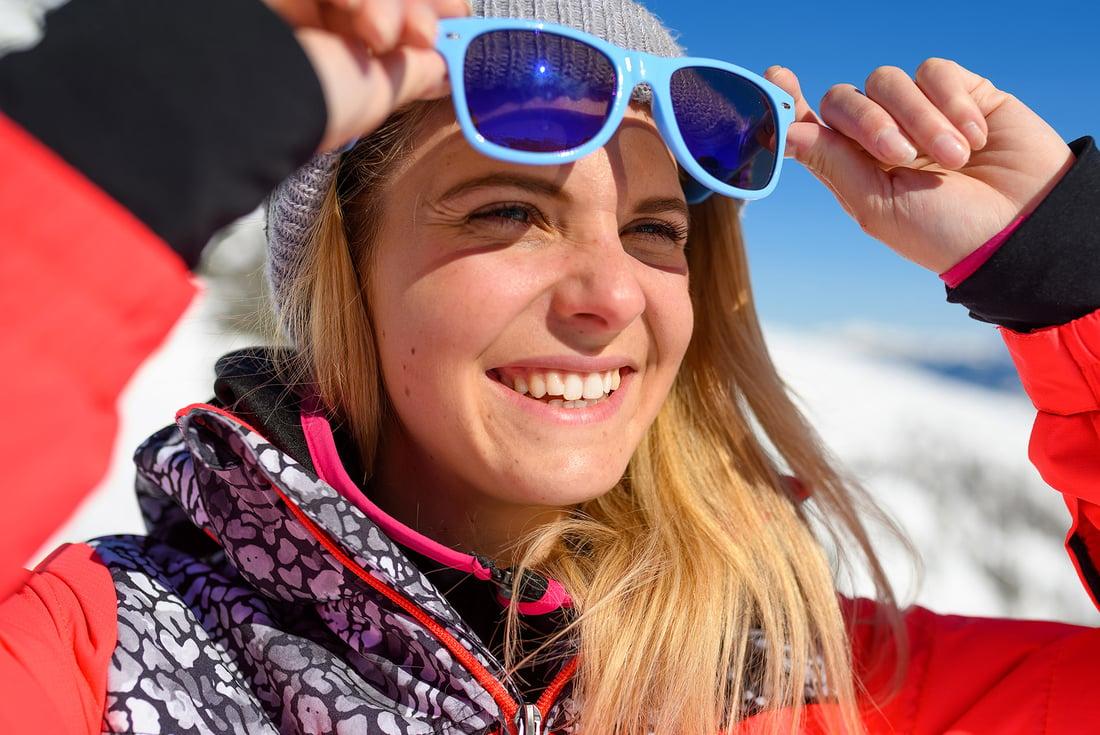 Grundausrüstung zum Skifahren
