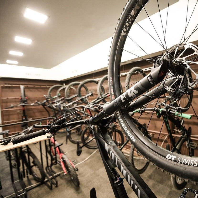 Bikehotel Tauernhof Flachau Bike cellar