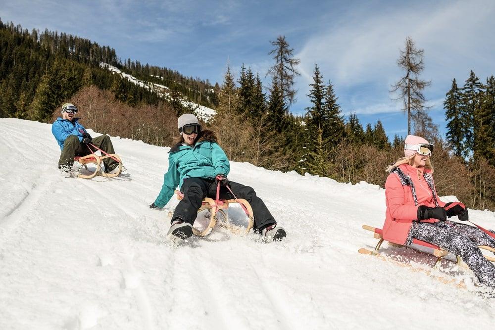 Rodeln Flachau Skihotel Tauernhof