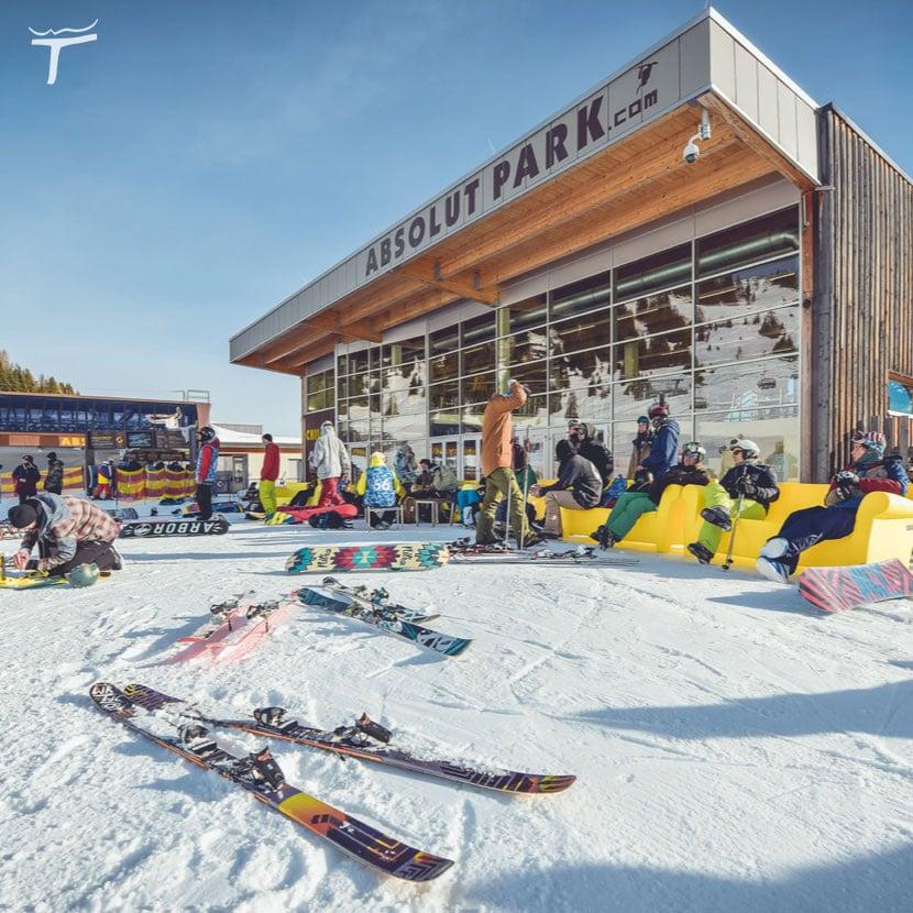 absolutpark Snow Space Salzburg Flachauwinkel Kleinarl Absolut Park Skigebiet Rails Piste Snowpark