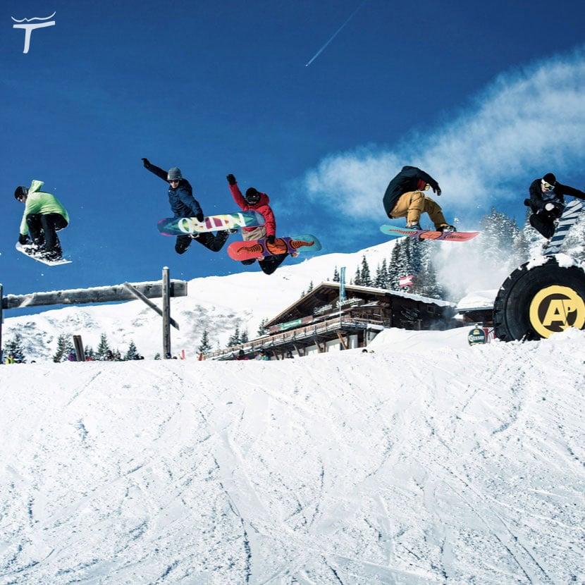 mekka-fuer-freestyle Shuttleberg Flachauwinkl-Kleinarl Absolut Park Kicker Ski Rails
