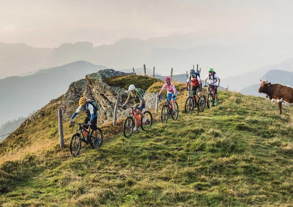 Bikeurlaub mountainbike sporthotel tauernhof Biketouren flachau österreich
