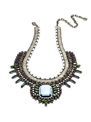 Dannijo Brass-Plated and Swarovski Crystal Eva Necklace